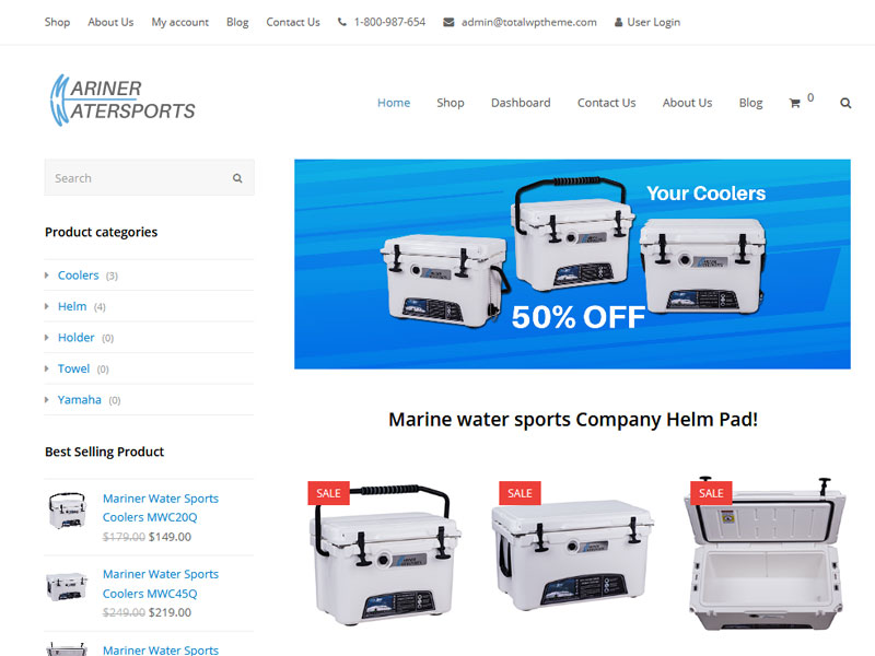 Mariner-Water-Sports-Web-Design
